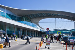 Aéroport Sheremetievo Terminal D moscou Mai, 14, 2016 Photo libre de droits