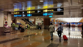 Aéroport Singapour de Changi Photos stock
