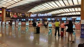 Aéroport Singapour de Changi Images libres de droits