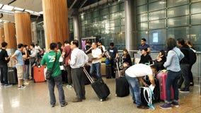 Aéroport Singapour de Changi Photographie stock