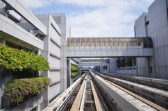 Aéroport Skytrain de Changi à l'aéroport de Singapour Changi, Singapour Image stock