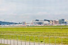 Aéroport Stuttgart, Allemagne - terminal Image libre de droits