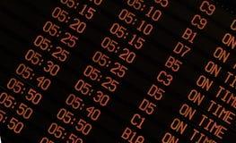 Aéroport SUR le signe de TEMPS Photographie stock