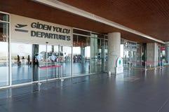 Aéroport terminal de Dalaman de départ en Turquie photos stock
