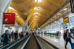 Aéroport terminal de Madrid Barajas Photographie stock