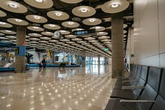 Aéroport terminal de Madrid Barajas Photos stock