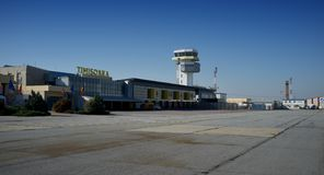 Aéroport Timisoara - en Roumanie photographie stock libre de droits