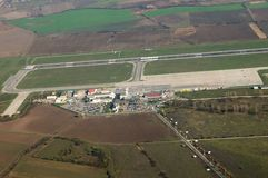 Aéroport Timisuara - Roumanie Image stock