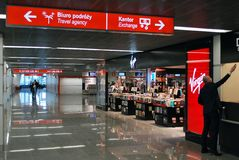Aéroport Varsovie Chopin Photo stock