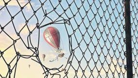 Aérostat en ciel d'été Photos libres de droits