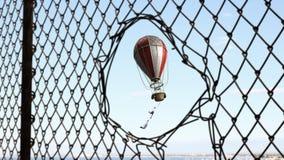 Aérostat en ciel d'été Image stock