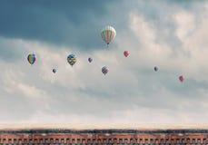 Aérostats de vol Photo libre de droits