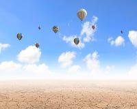 Aérostats de vol Images libres de droits