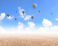 Aérostats de vol Image libre de droits