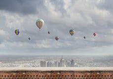 Aérostats en ciel Photo libre de droits
