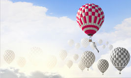 Aérostats en ciel Images stock