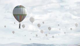 Aérostats en ciel Photographie stock libre de droits