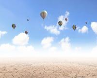Aérostats en ciel Photographie stock