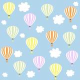 Aérostats en ciel Configuration illustration libre de droits