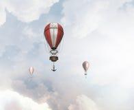 Aérostats volant haut Photo stock