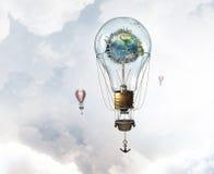 Aérostats volant haut Photo libre de droits