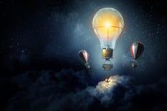 Aérostats volant haut Media mélangé Photos libres de droits