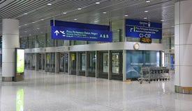 Aërotreinpost bij de luchthaven van Kuala Lumpur, Maleisië Royalty-vrije Stock Afbeeldingen