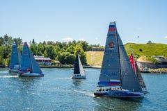 AÌŠf-Ozeanrennen 2018, das 4 segelt stockbild
