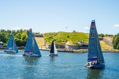 AÌŠf-Ozeanrennen 2018, das 5 segelt lizenzfreie stockfotografie