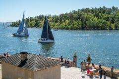 AÌŠf-Ozeanrennen 2018, das 6 segelt lizenzfreies stockfoto