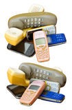 Aísla el teléfono móvil viejo Fotografía de archivo
