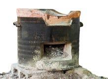 Aísla las cenizas viejas de la estufa Imágenes de archivo libres de regalías