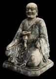 Aísla las estatuas del monje Imagen de archivo