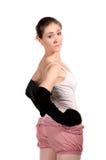 Aíslan al bailarín de ballet en tracksuit Fotografía de archivo libre de regalías