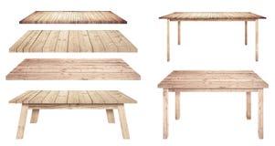 Aíslan a Brown y las tablas de madera de diverso estilo en el fondo blanco Fotografía de archivo libre de regalías
