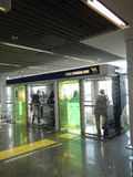 Aíslan a los fumadores en el aeropuerto Fotografía de archivo