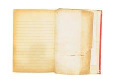 Aísle el libro del vintage, abierto, en el fondo blanco Imágenes de archivo libres de regalías