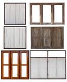 Aísle las ventanas de madera viejas Fotos de archivo libres de regalías