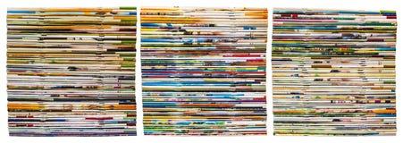Aísle muchos diarios de la espina dorsal Foto de archivo libre de regalías