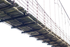 Aísle puente colgante de madera Fotografía de archivo libre de regalías