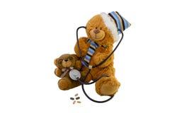 Aísle un juguete la composición de los niños macros el measur del oso de peluche Fotos de archivo libres de regalías