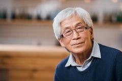 aîné asiatique d'homme image libre de droits