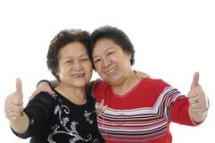 aîné asiatique deux de dame Photos libres de droits
