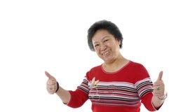aîné asiatique deux de dame Images stock