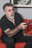 Aîné attirant avec la barbe blanche Photo libre de droits