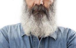 Aîné avec la pleine barbe blanche Photographie stock