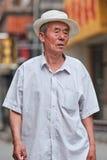 Aîné chinois au centre de la ville de Pékin, Chine Photographie stock libre de droits