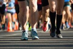 Aîné courant un marathon Image libre de droits