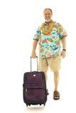 aîné d'homme de bagage Photographie stock libre de droits