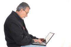 aîné d'ordinateur portatif d'ordinateur Image libre de droits